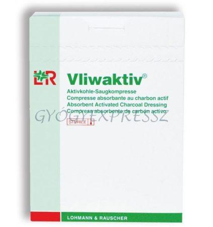 VLIWAKTIV Széntartalmú nedvszívó sebpárna 10 x 10 cm (20 db)
