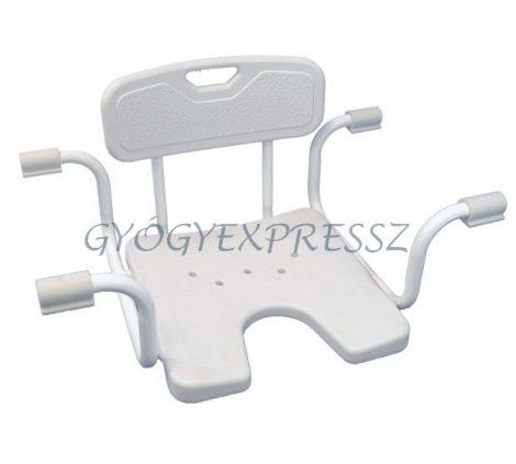 Fürdőkád ülőke - Állítható szélességű, higiéniai nyílással, támlával BOB (MG 6131)