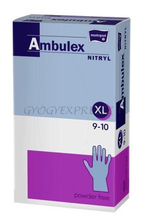 AMBULEX Nitril Gumikesztyű Vizsgálókesztyű Púdermentes 100 db XL-es méret