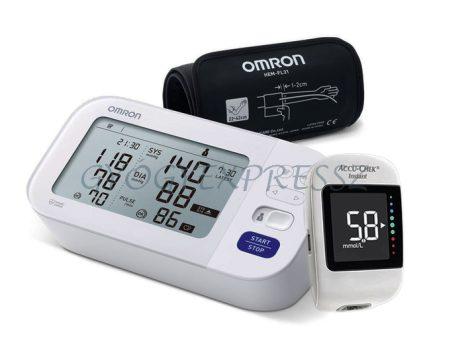 PROFI PLUSZ Vérnyomás Vércukor Egészségcsomag (Omron M6 + Accu-Chek Instant)