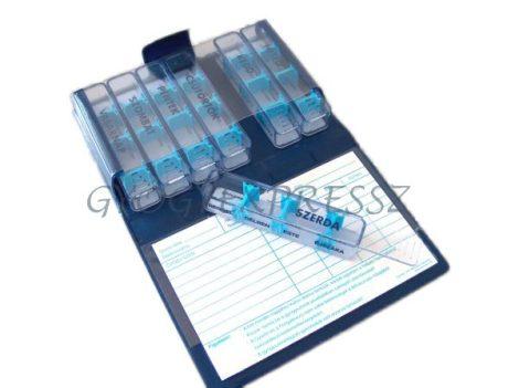 Gyógyszeradagoló - heti dobozos, műanyag tokban (MG 8464)