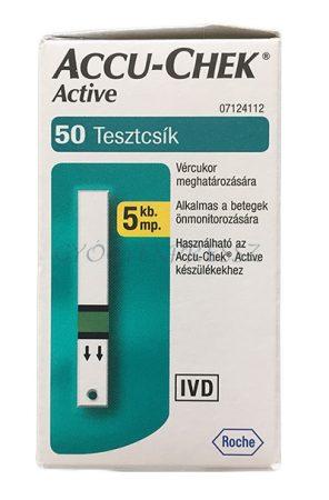Accu-Chek ACTIVE vércukor TESZTCSÍK 50 db