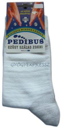Ezüstszálas zokni vékony világos színű PEDIBUS 5007