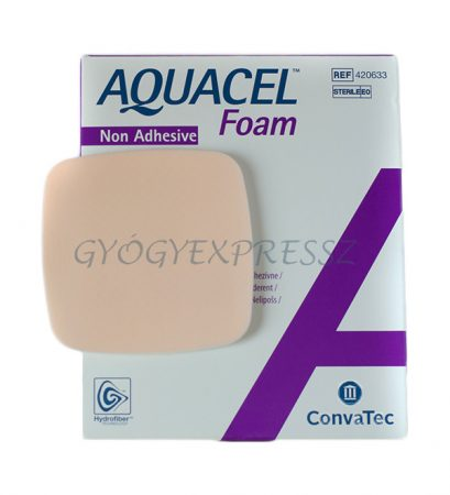 AQUACEL AG FOAM Nem öntapadó ezüstionos steril habkötszer  10 X 10 cm