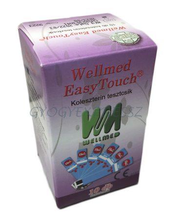 WELLMED Easytouch koleszterin tesztcsík GU-GCU 10 db