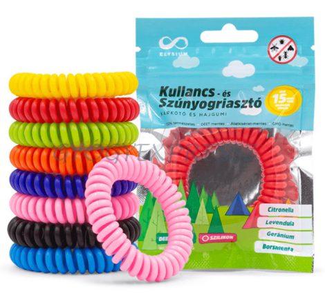Szúnyogriasztó karkötő spirál  2 db
