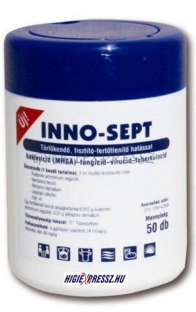 INNO-SEPT Felületfertőtlenítő és Bőrfertőtlenítő törlőkendő 50 db (MG 5716)