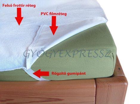 Vízhatlan matracvédő lepedő gumipántos  fehér 120 x 200 cm (MG 7826)