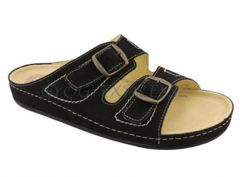 SALUS Férfi kétcsattos papucs fekete 5001