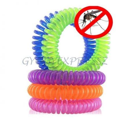 Szúnyogriasztó karkötő spirál 30 csomag