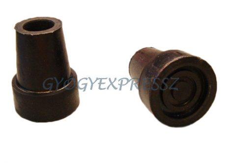 Botvég gumi fémbetétes 18 mm FEKETE