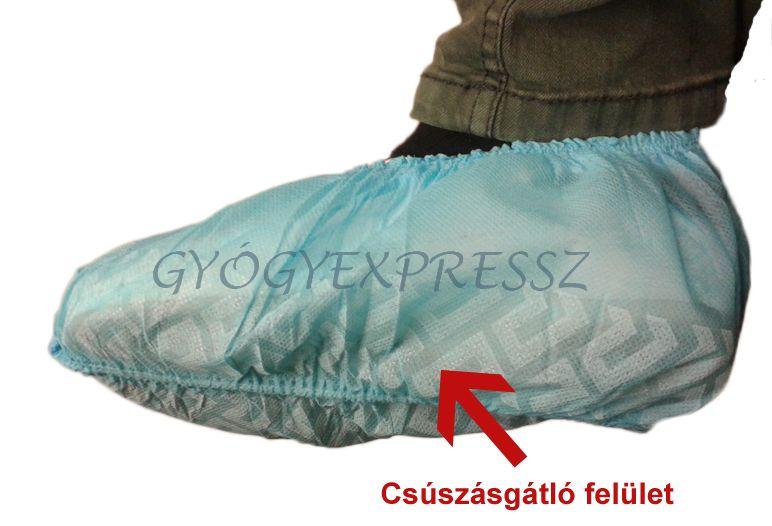 Cipővédő fólia, lábzsák - CSÚSZÁSGÁTLÓVAL (100 db)