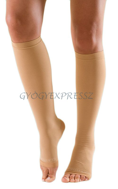 Térdharisnya I-es kompressziós (AD) testszínű nyitott lábfejű