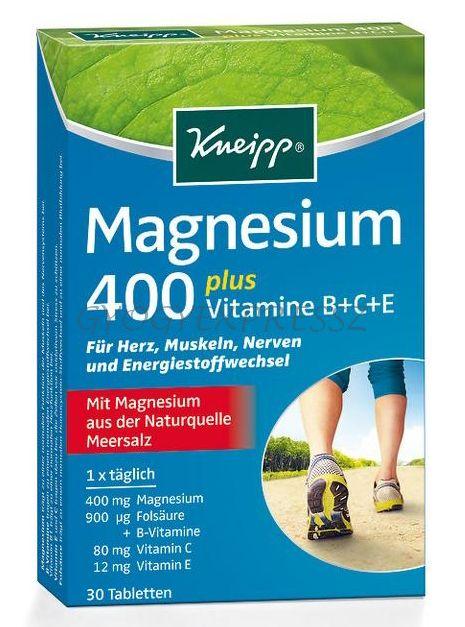 KNEIPP Magnézium 400+B+C+E Vitamin+Folsav 30db