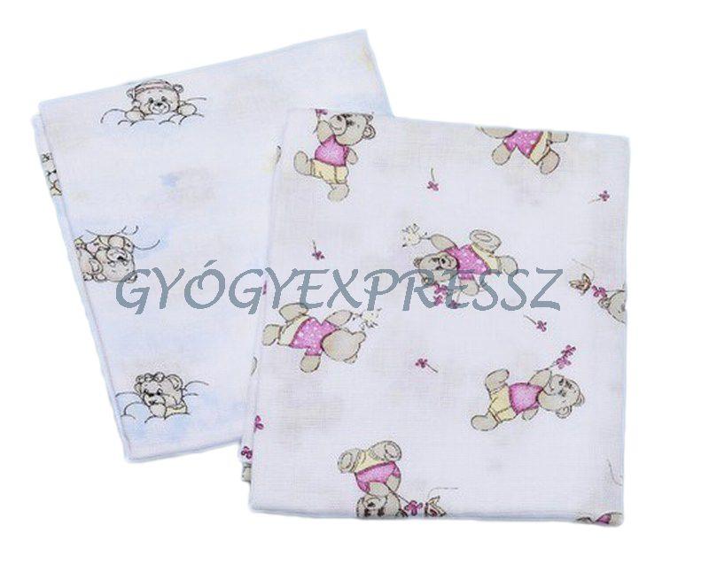 BABY BRUIN Cseh textilpelenka nyomott mintás  2db