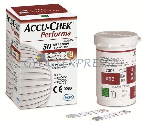 Accu-Chek Performa vércukor TESZTCSÍK 50db